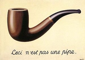 The Treachery of Images by Rene Magritte, Wikipedia